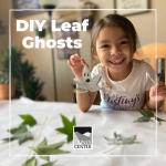 Create some fun environmentally friendly leaf ghosts just in time for Halloween!