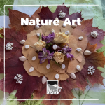 Leaves, Sticks, rocks and many other small pieces of nature turn into a great medium to make art with! Get outside, get your hands dirty and feel the calming effect nature and making mandalas has for you!