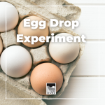 Today's activity demonstrates the laws of physics through an egg drop experiment! Forewarning, this might get a little messy!