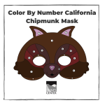 Create your very own California Chipmunk mask at home! Use the color by number guide while learning some fun facts about the California Chipmunk.