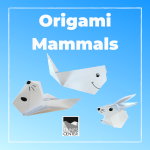 Learn how to create an origami whale, sea otter, and rabbit with this activity!